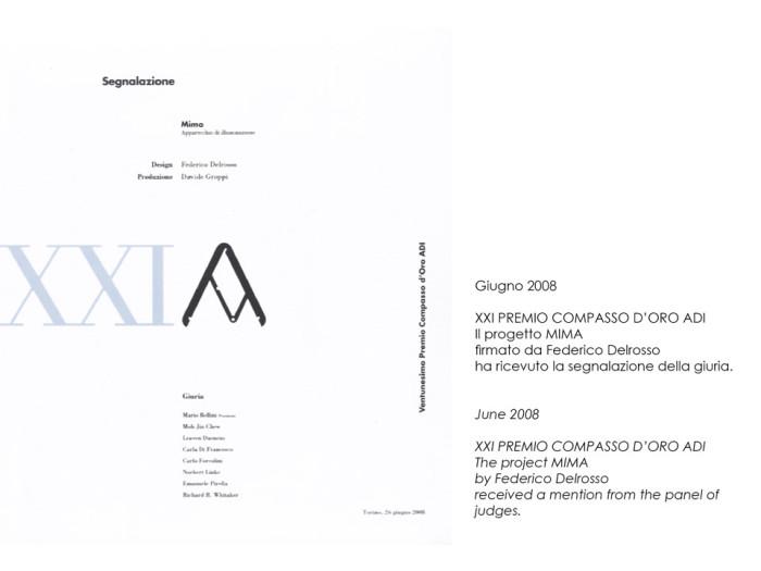 Compasso d'oro mention for Federico Delrosso