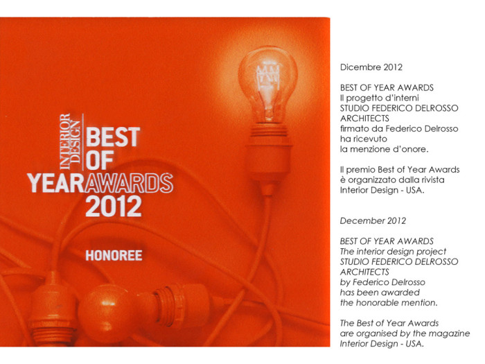 premio Best of Year Awards Interior design