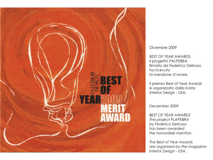 Best of Year Awards for Palpebra project by Federico Delrosso 2009