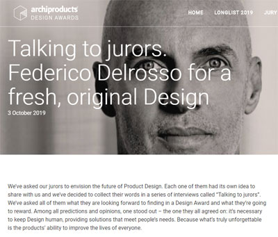 Federico Delrosso on Archiproducts